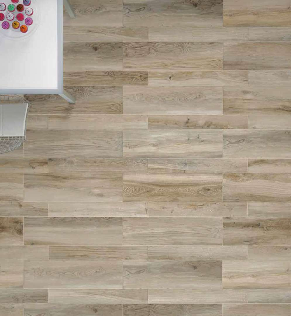 cottage wood look floor wall tile scene 4 - Ceramic Tile Like Wood Flooring