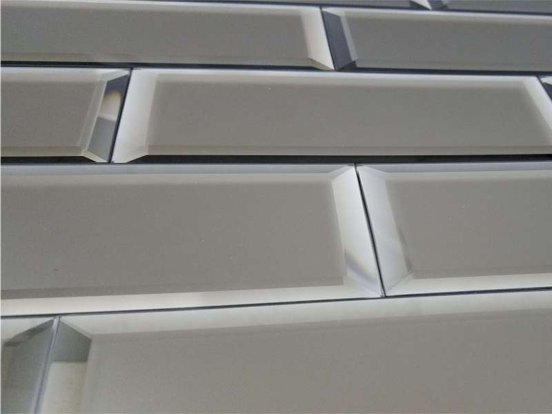 Reflections Glass Mirror Tile 3x12 Gold Frosted 1 Bv
