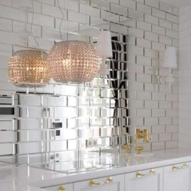 Rectangular Beveled Mirror Tiles Tile Design Ideas