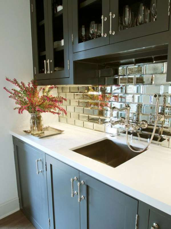 Reflections Glass Mirror Beveled Wall Tile Bv Tile And Stone