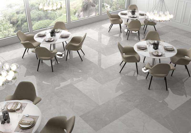 Pulpis spanish large format marble look floor wall tiles for Large format glass tile