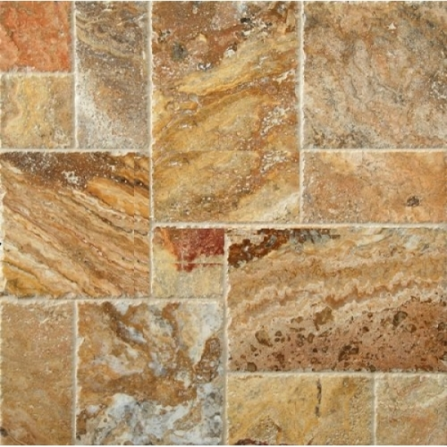 Travertine 4 Sz Versailles Pattern Set Scabos Bv Tile And Stone