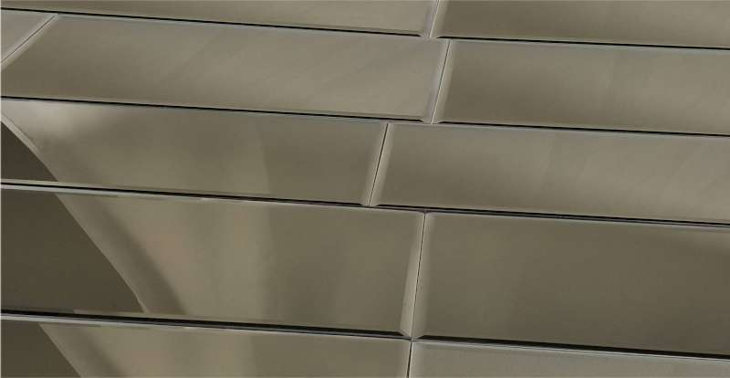 Reflections Glass Mirror Tile 12x36 Gold 1 Bv Tile And
