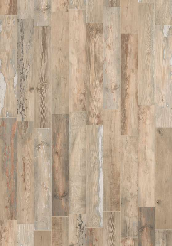 Painted Wood - Distressed Wood Look Floor  U0026 Wall Tile