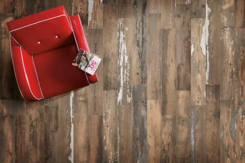 Painted Wood Scene Brown 2