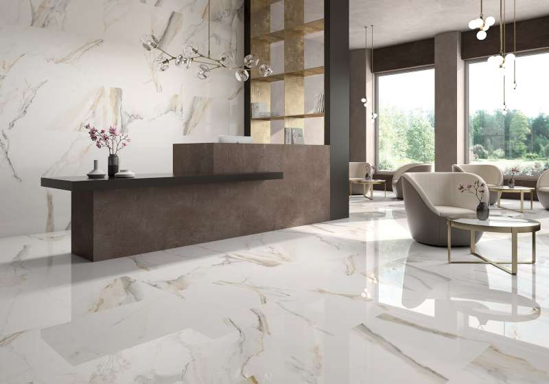 Atlantis Gold Spanish Large Format Marble Look Floor